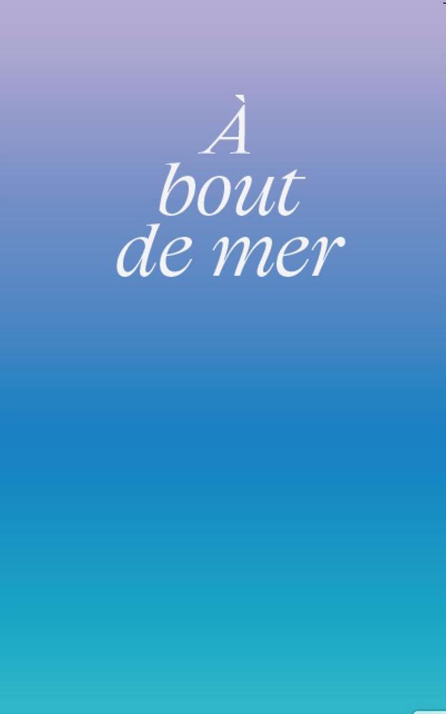 A bout de mer : [exposition du 12 juin au 12 septembre 2020, Centre d'art Passerelle] / Lilian Froger, Camille de Singly, Sylvie Ungauer  |
